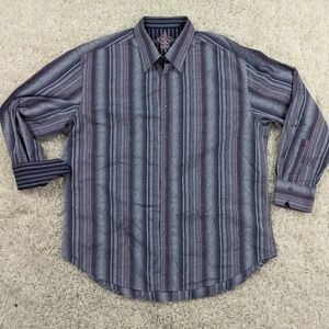 Robert Graham Flip Cuff Button Shirt Men 3XL A04